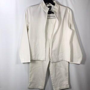 Eileen Fisher Casual Cotton Capri Suit Set